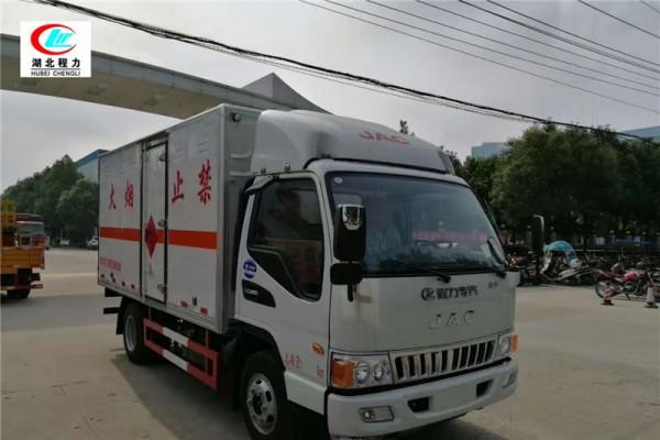江淮4.1米易燃液体厢式运输车【三类 】