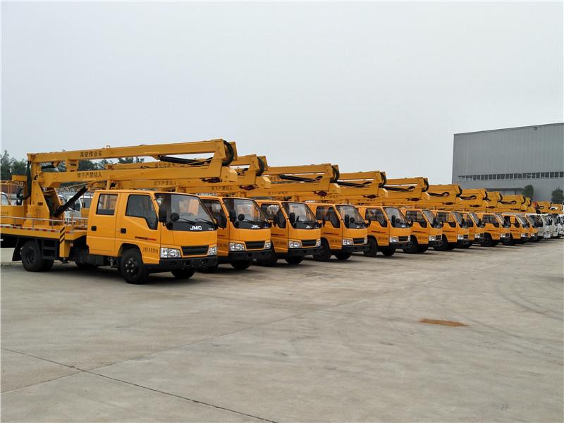 某局批量采购12台江铃16米高空作业车
