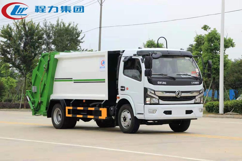 国六【8立方】东风D7 压缩垃圾车