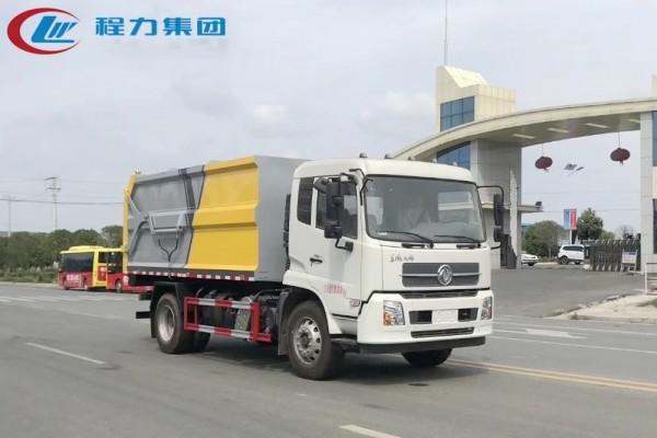 国六·东风天锦【15方】对接垃圾车